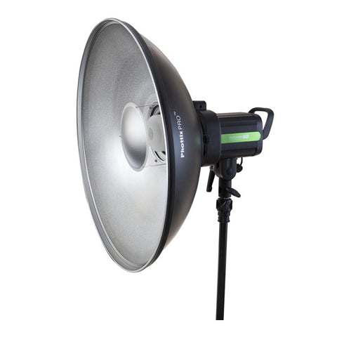 Phottix Pro 20-inch Beauty Dish MK II with Bowens Speed Ring - Silver