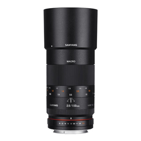Samyang 100mm F2.8 ED UMC MACRO Lens - Nikon Mount with AE