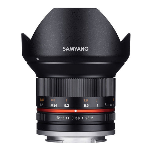 Samyang 12mm F2.0 ED AS NCS CS Lens - Micro Four Thirds Mount - Black