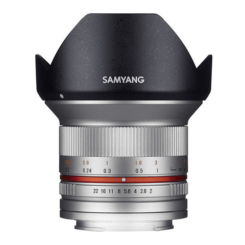Samyang 12mm F2.0 ED AS NCS CS Lens - Micro Four Thirds Mount - Silver