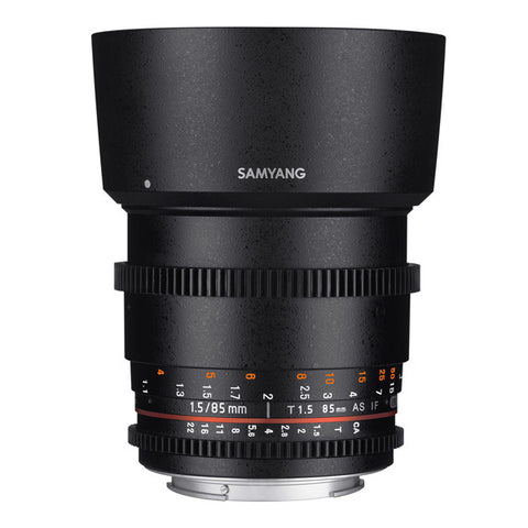 Samyang 85mm T1.5 AS IF UMC II VDSLR Cine Lens - Canon Mount