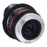 Samyang 8mm T3.1 AS ED IF UMC II VDSLR Fisheye Cine Lens