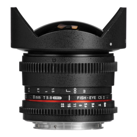 Samyang 8mm T3.8 AS IF MC II VDSLR DH Fisheye Cine Lens