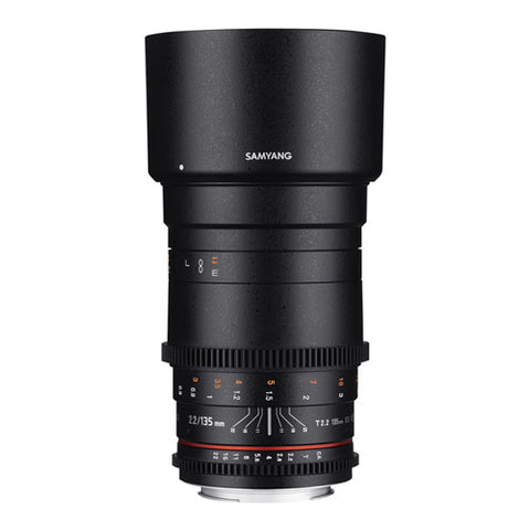 Samyang 135mm T2.2 ED UMC II VDSLR Cine Lens - Micro Four Thirds Mount