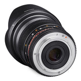 Samyang 16mm T2.2 ED AS UMC CS II VDSLR Cine Lens - Canon Mount