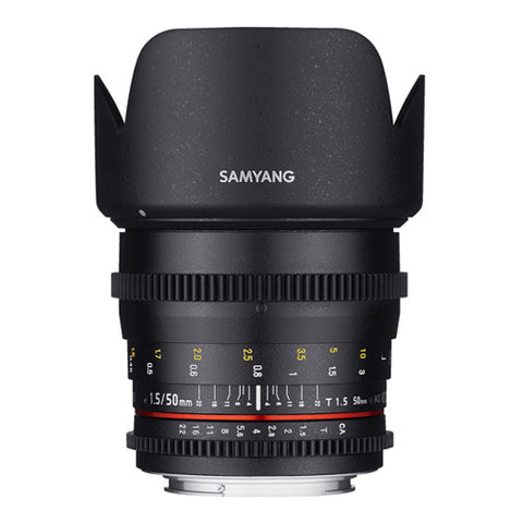 Samyang 50mm T1.5 AS UMC II VDSLR Cine Lens - Sony FE Mount