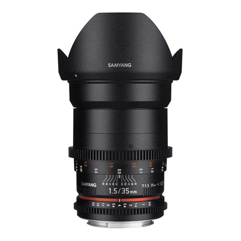 Samyang 35mm T1.5 AS UMC II VDSLR Cine Lens - Sony FE Mount