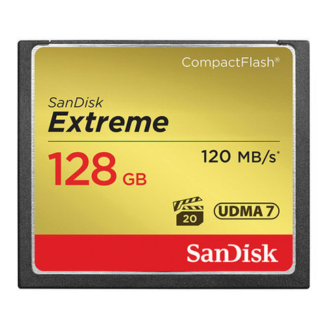 SanDisk Extreme CompactFlash Memory Card 128GB - 120MB/s