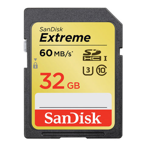 SanDisk Extreme SDHC Memory Card 32GB - 60MB/s (SDSDX-032G-XQ46)
