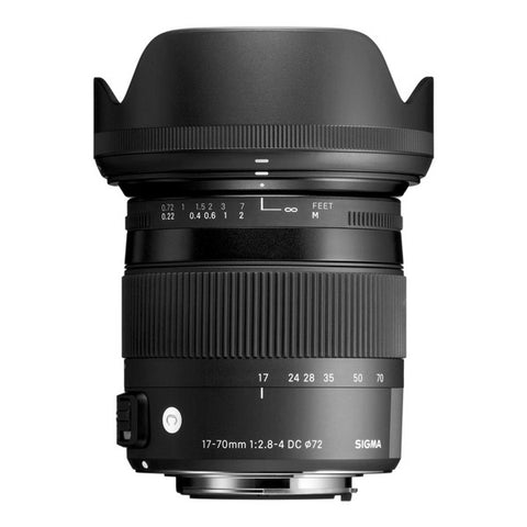 Sigma 17-70mm F2.8-4 DC Macro OS HSM Contemporary Lens - Canon Mount