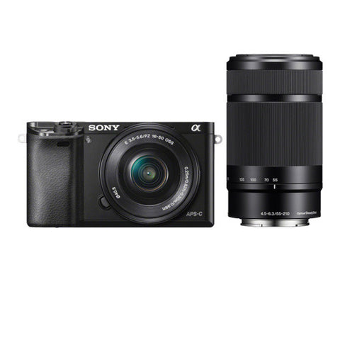 Sony A6000 Twin Lens Kit with 16-50mm & 55-210mm Lenses