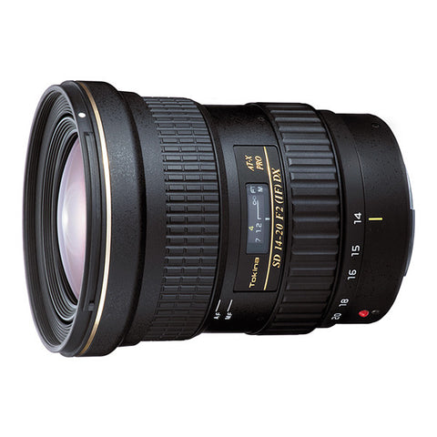 Tokina AT-X 14-20mm F2 PRO DX Lens - Canon Mount
