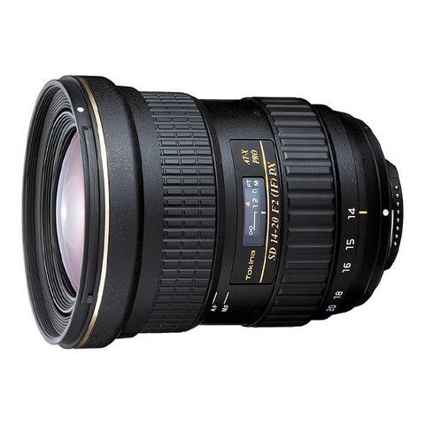 Tokina AT-X 14-20mm F2 PRO DX Lens - Nikon Mount