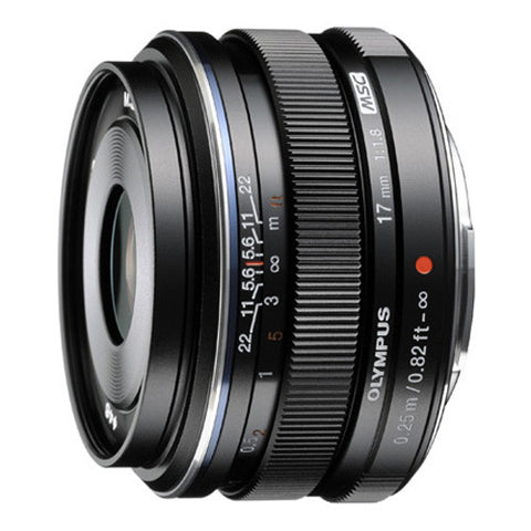 Olympus M.Zuiko Digital 17mm f1.8 Wide Prime Lens - Black - EW-M1718