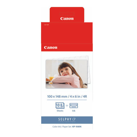 Canon KP-108IN Ink and Paper Pack - KP108IN