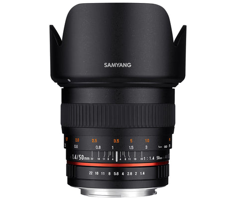 Samyang 50mm F1.4 AS UMC Lens - Canon Mount