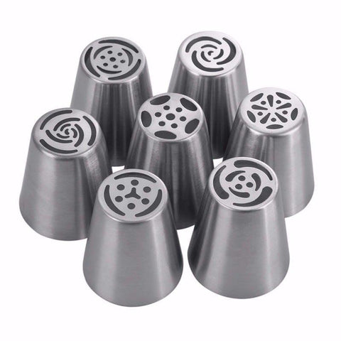 Russian Style Pastry Nozzles 7-Piece Set