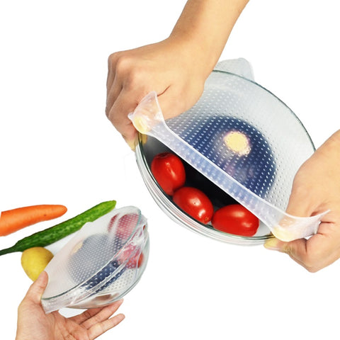 Reusable Silicone Stretch Lids Four Piece Set - Your Lifestyle Corner