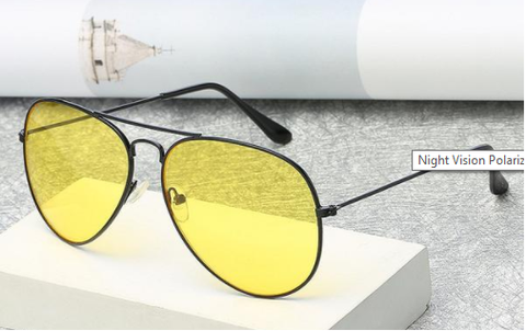 Image of Night Vision Polarized Pilot Glasses Designed for Night Driving - Your Lifestyle Corner