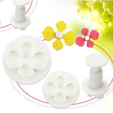 Flower Cake Decorating Plunger Three-Piece Set - Your Lifestyle Corner