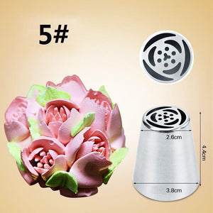 Cake Love - Flower-Shaped Frosting Nozzles Seven Piece Set - Your Lifestyle Corner