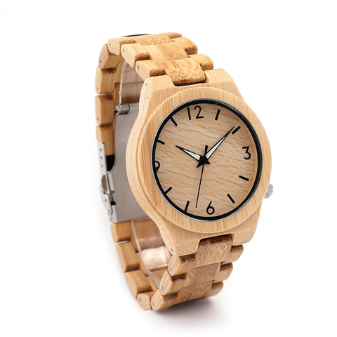 Image of All Bamboo Wood Watch for Men and Women with Japanese Quartz - Your Lifestyle Corner