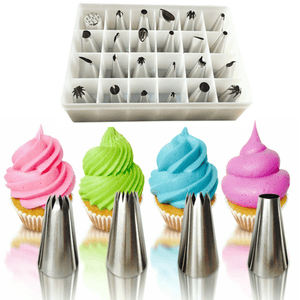 24 Piece Set Of Stainless Steel Icing Nozzles FREE - Your Lifestyle Corner