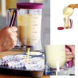 Cupcake & Pancake Mix Dispenser Funnel with Measuring Cup