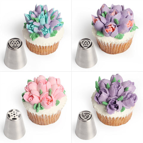 Cake Love - Flower-Shaped Frosting Nozzles Seven Piece Set