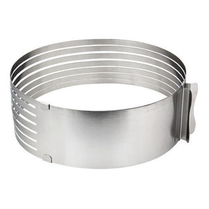 Adjustable 7 Layer Stainless Steel Round Cutter, DIY Layered Cake Slicer - Your Lifestyle Corner