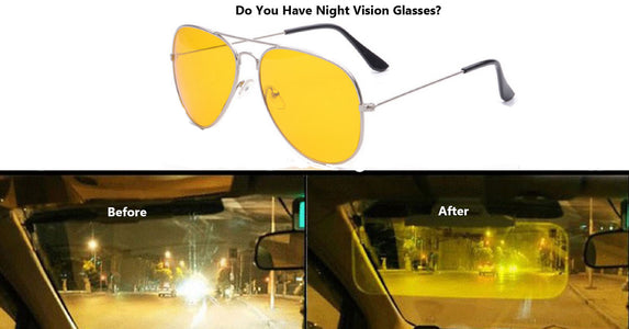 Night Vision Polarized Pilot Glasses Designed for Night Driving - Your Lifestyle Corner