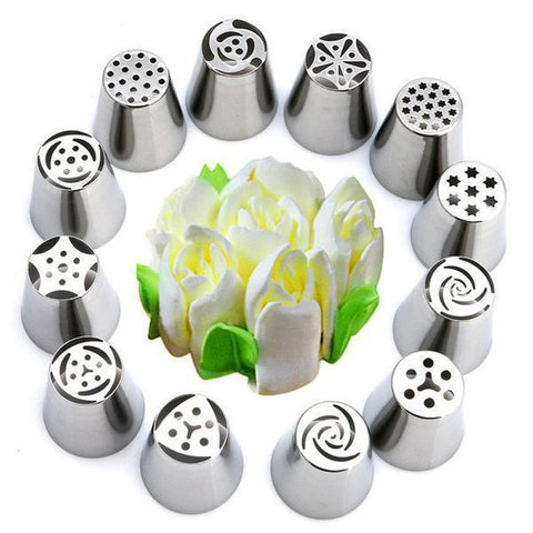 15 Piece Russian Tulip Piping Nozzles - Your Lifestyle Corner