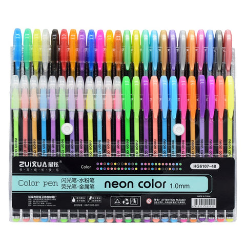 Image of 48 Colors Gel Pens Set - Your Lifestyle Corner