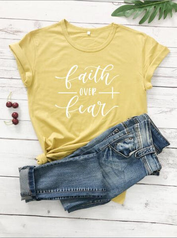 Image of Faith Over Fear Women T-Shirt - Your Lifestyle Corner