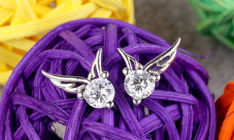 Image of Angel Wing Stud Earrings - Your Lifestyle Corner