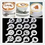 16 Pieces Barista Coffee Stencil - Your Lifestyle Corner