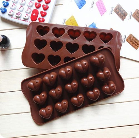 Silicone Heart-Shaped Chocolate Molds - Your Lifestyle Corner