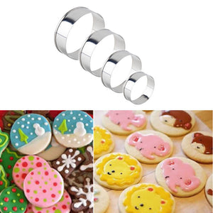 Stainless Steel Round Cookie and Cake Mold, Cutter 4 Pieces - Your Lifestyle Corner