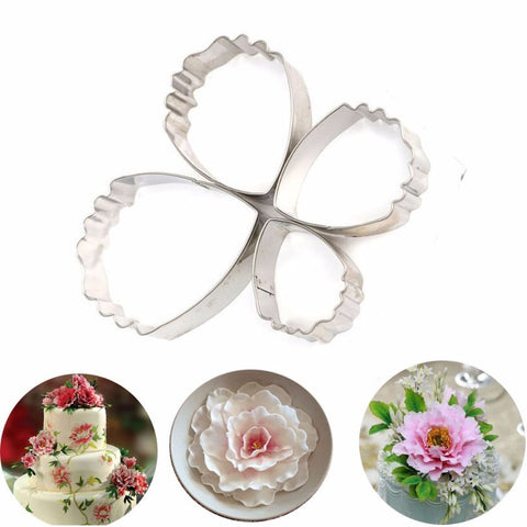 Image of Stainless Steel Flower Fondant Cake Mold 4 Pieces - Your Lifestyle Corner