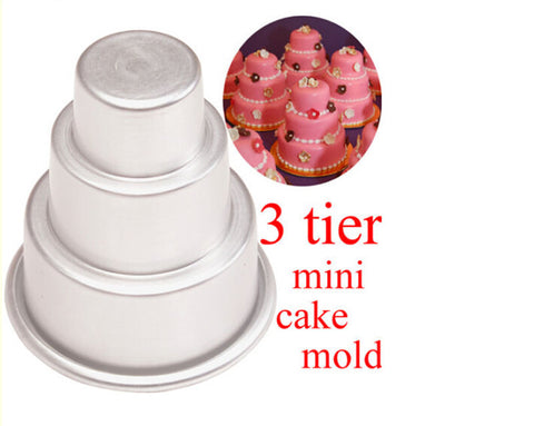 Do It Yourself Mini 3-Tier Cupcake Pan and Mold - Your Lifestyle Corner