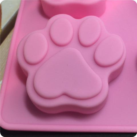 Six-Hole Puppy Footprints Silicone Cake Mold - Your Lifestyle Corner