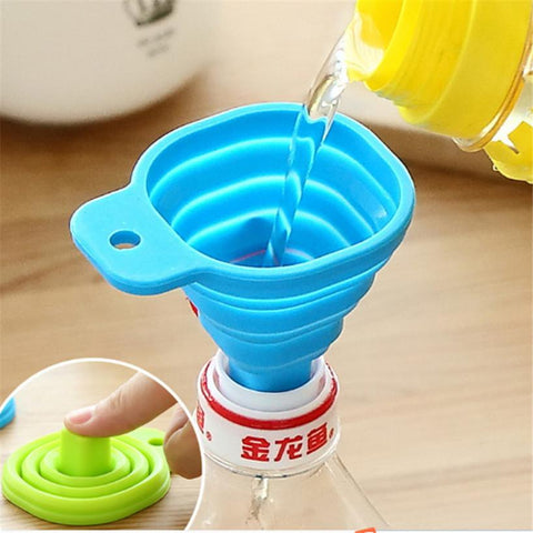 Image of Silicone Folding Telescopic Long Neck Funnel - Your Lifestyle Corner