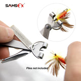 SAMSFX Fishing Quick Knot Tool Pro Fast Tie Nail Knotter Line Cutter Clipper Nipper Hook Sharpener Fly Tying Tool Tackle Gear - Your Lifestyle Corner