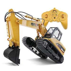 HuiNa Toys 15 Channel 2.4G 1/14 RC Excavator Charging RC Car With Battery RC Alloy Excavator RTR For kids - Your Lifestyle Corner