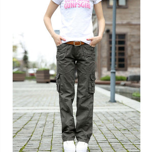 HIP HUGGER COMFY CARGO CASUAL PANTS - Your Lifestyle Corner