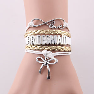 Bridal Party Infinity Love Bracelets - Your Lifestyle Corner
