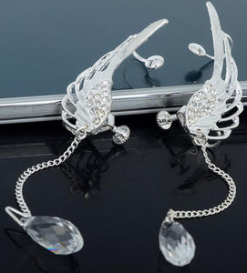 Elegant Silver Angel Wing Earrings - Your Lifestyle Corner