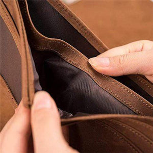 To My Grandson - Never Lose- Genuine Leather Wallet - Your Lifestyle Corner