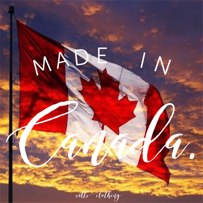 Made in Canada clothing?  5 Reasons to Shop Canadian Made Clothing.
