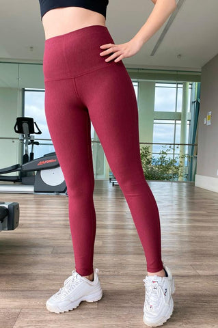 Bamboo leggings in bamboo fleece fabric.